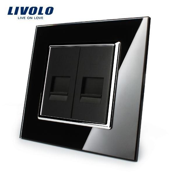 Livolo   Zwart   Combinatie   Telefoon en netwerk aansluiting