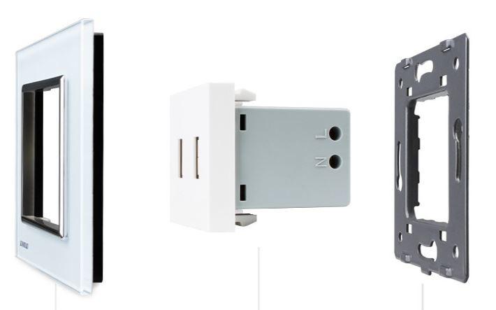 Livolo | USB aansluiting tweevoudig | Wit