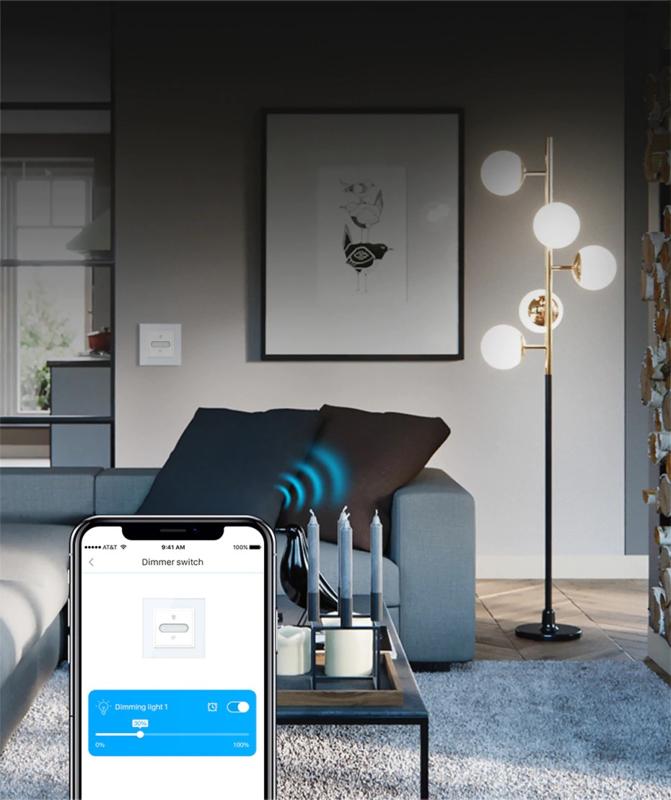 Livolo | Zwart | Dimmer | Universeel | Wisselschakelaar | Zigbee | Wifi | LIVOLO App