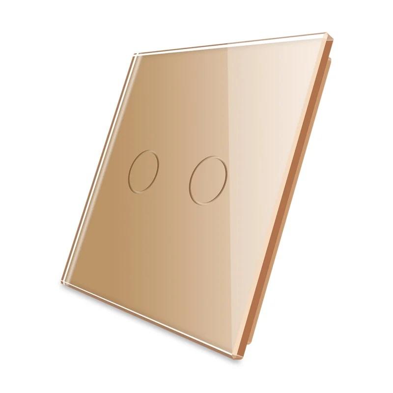 Livolo   Goud glasplaat   Touchschakelaar   Tweevoudig