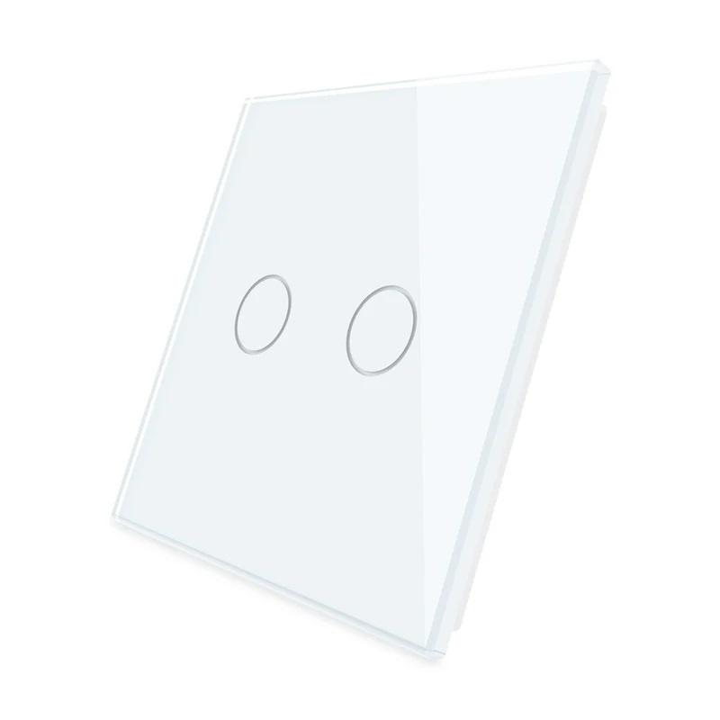 Livolo   Wit glasplaat   Touchschakelaar   Tweevoudig