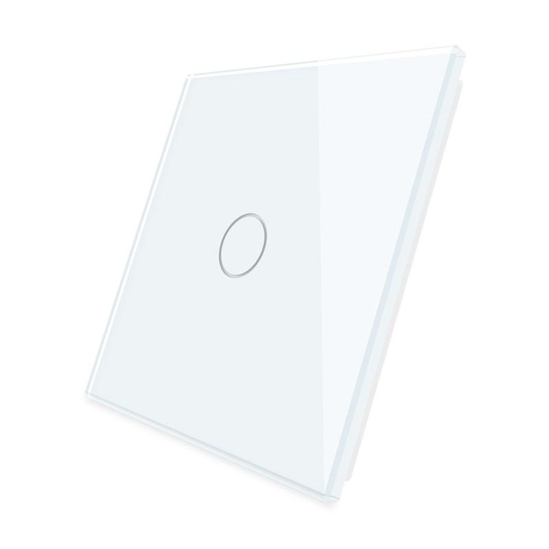 Livolo   Wit glasplaat   Touchschakelaar   Enkelvoudig