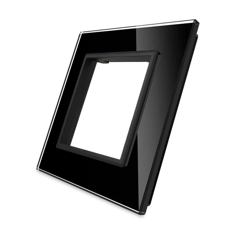 Livolo   Zwart glasplaat   SR   Enkelvoudig