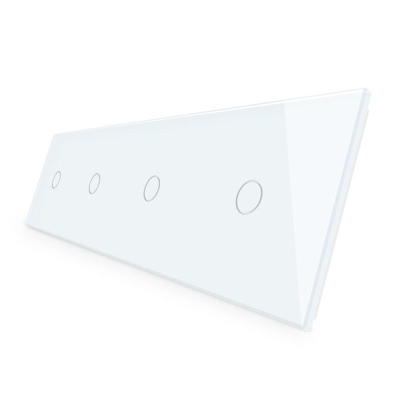 Livolo | Wit glasplaat | Touchschakelaar | 1+1+1+1