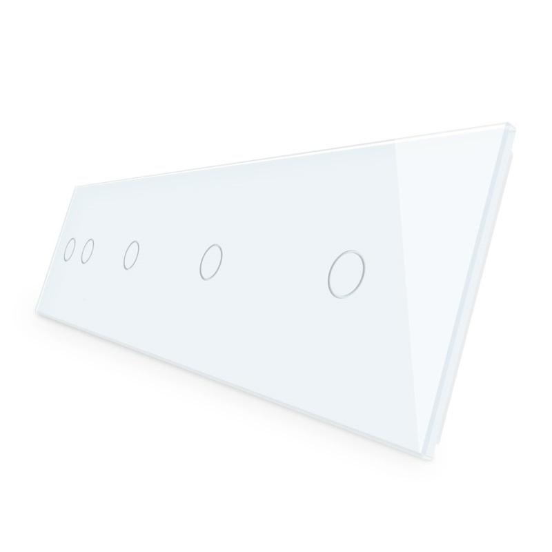 Livolo | Wit glasplaat | Touchschakelaar | 2+1+1+1