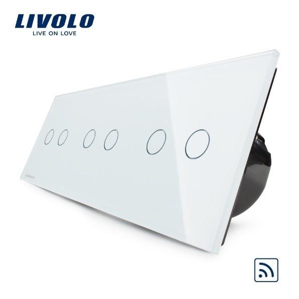 Livolo   Wit 2+2+2   Serieschakelaar   Afstandbediening