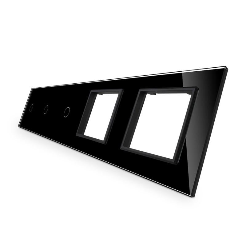 Livolo   Glasplaat   1+1+1+SR+SR   Zwart