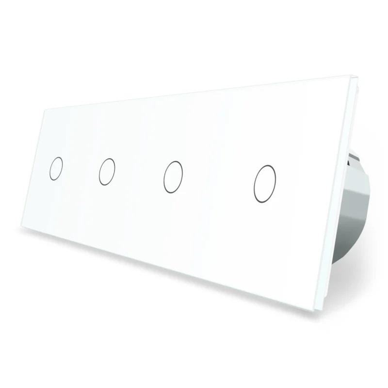Livolo | Wit 1+1+1+1 | Dimmer schakelaar