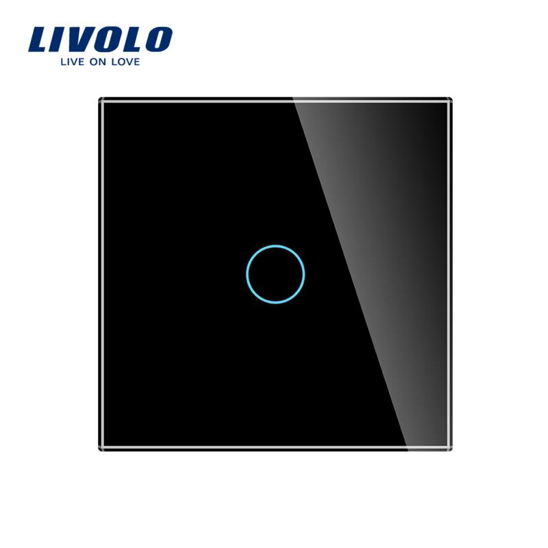 Livolo | Zwart enkelpolig | Wisselschakelaar