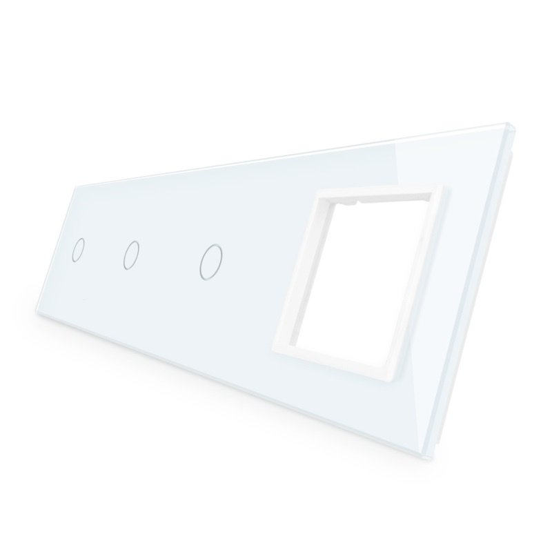 Livolo | Wit glasplaat | Combinatie | 1+1+1+SR