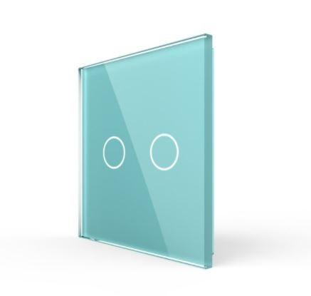 Livolo   Groen glasplaat   Touchschakelaar   Tweevoudig