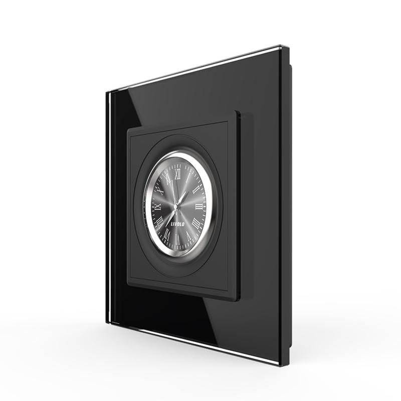 Livolo   Design Klok   Zwart