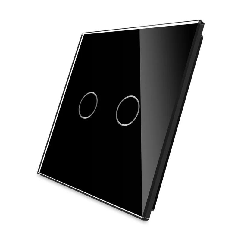 Livolo | Zwart glasplaat | Touchschakelaar | Tweevoudig