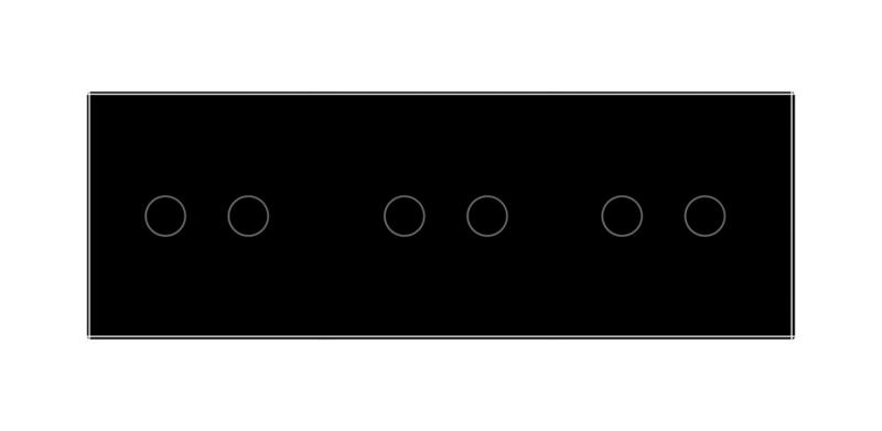 Livolo | Zwart 2+2+2 | Wisselschakelaar