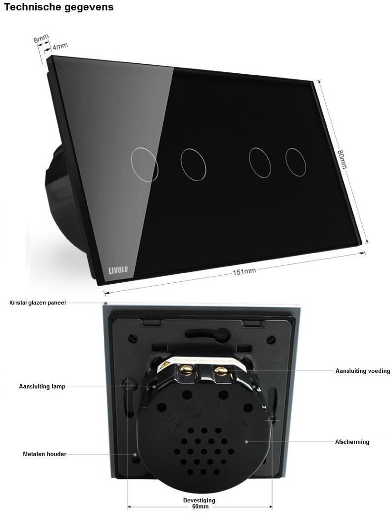 Livolo technische gegevens touchschakelaar 2+2 zwart.jpg