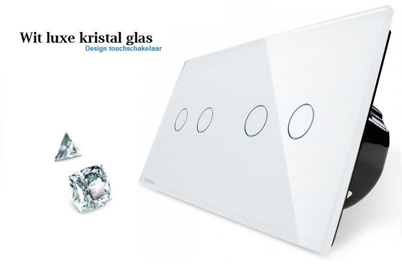 Livolo touchschakelaar wit luxe kristal glas 2+2.jpg