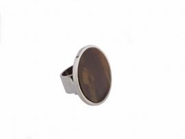 Framed Colored Jasper Ring