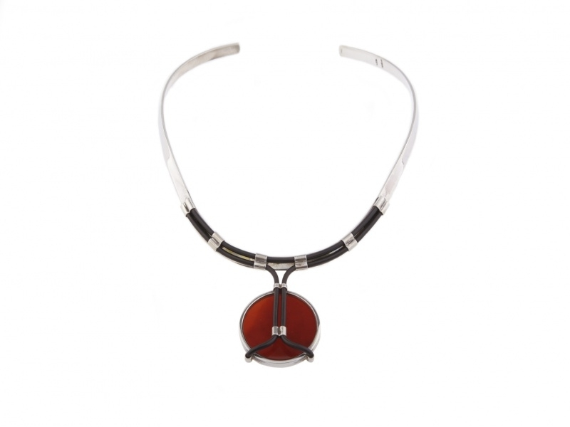 Bonded Carnelian collier