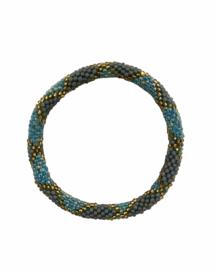 Roll on bracelet Loffs - mint/grey