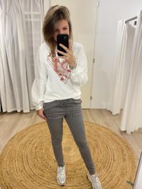 Sweater pull Rebelz - white