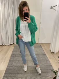 Knitted cardigan - green