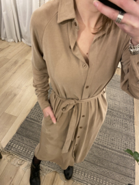 Soft long blouse dress Rebelz - beige