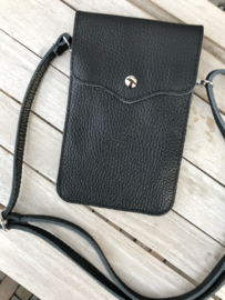 Little phone bag - leather black
