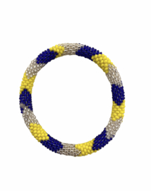 Roll on bracelet Loffs - cobalt/yellow