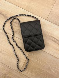 Leather classic crossbody small - black