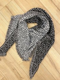 Panter triangle scarf - blue