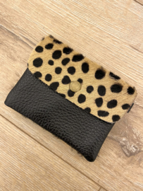 Leather wallet - spot brown