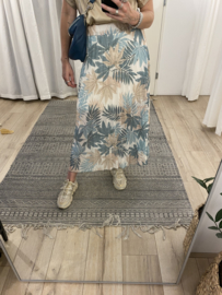 Print plissé skirt Azzurro - green