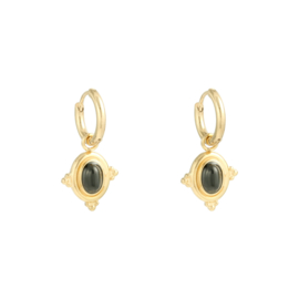 Earring Mystic Wave - black