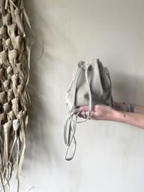 Suède pouch crossbody bag - ecru