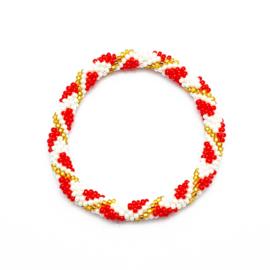 Roll on bracelet Loffs - red/white