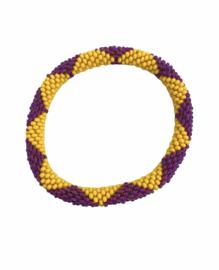 Roll on bracelet Loffs - purple/yellow