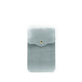 Little phone bag - suede blue