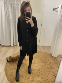 Basic wide blouse - black