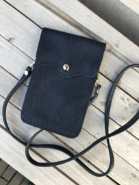 Little phone bag - leather dark blue