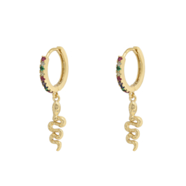 Earrings snake - gold