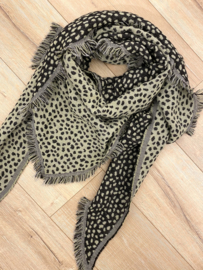 Panter triangle scarf - green