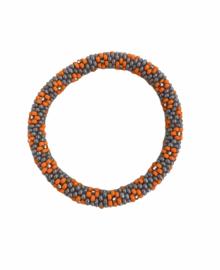 Roll on bracelet Loffs - grey/orange