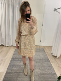 Print bohemian dress Azzurro - beige/pink