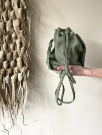 Suède pouch crossbody bag - green