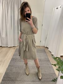 Summer ceintuur dress - beige