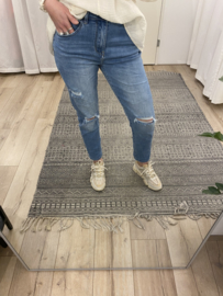 Destroyed mom jeans Azzurro - blue