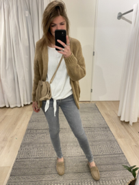 Knitted cardigan - camel