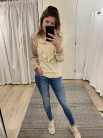 Ruffle blouse - beige