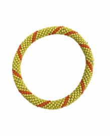 Roll on bracelet Loffs - green/orange