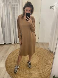 Wide pull dress - camel